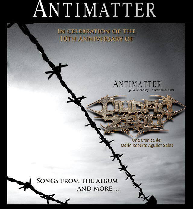 Antimatter Planetary Confinament 10 years ANTIMATTER: Planetary Confinement 10 Años de Melancolía Perturbadora!