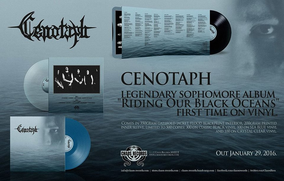 12376237 988692301204237 215930925975404970 n CENOTAPH: Riding Our Black Oceans Reeditado, Una Pieza Invaluable De Una Brillante Época del Death Metal Azteca.